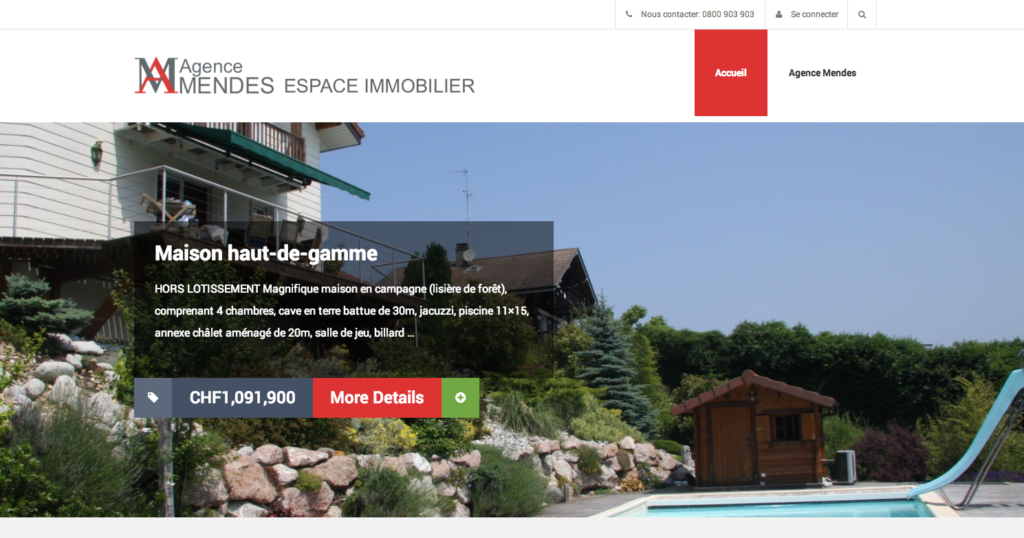 Ouverture espace immobilier for Immobilier site